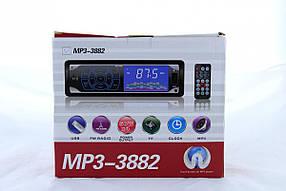 Автомагнітола MP3 3882 ISO, 1DIN сенсорний дисплей
