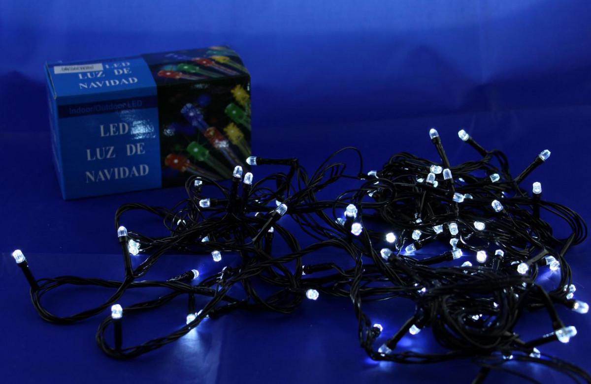 Светодиодная LED гирлянда Xmas 100 W-7 (белые диоды)