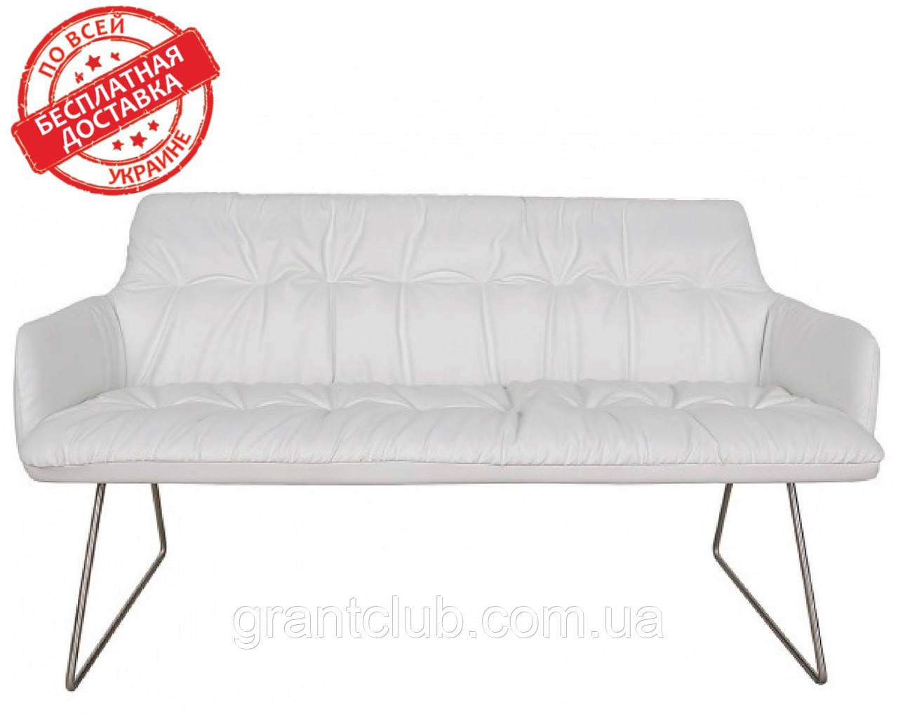 Кресло - банкетка LEON белый кожзам 155 см Nicolas (бесплатная адресная доставка)