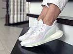 Жіночі кросівки Adidas Alphaboost (білі) 9383, фото 3