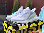 Женские кроссовки Adidas Alphaboost (белые) 9383, фото 4