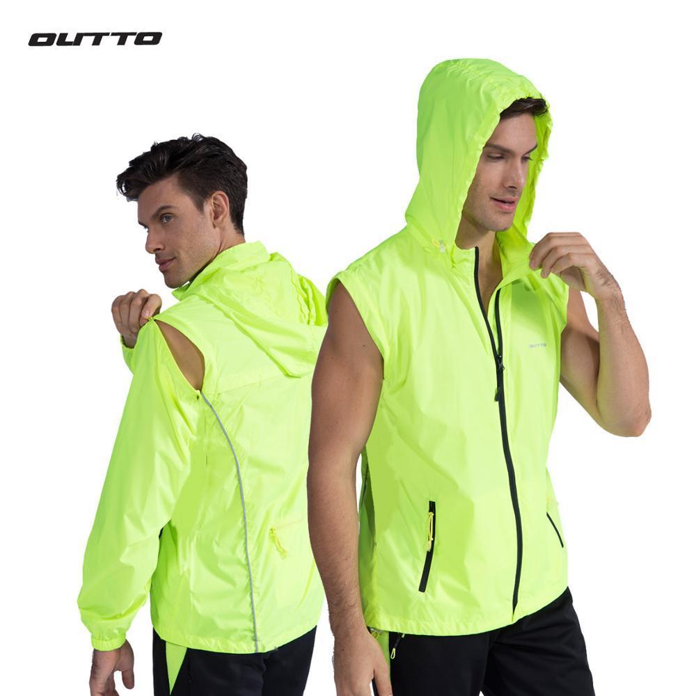 Куртка дождевик «Outto» 180012 трансформер 2-в-1 жилет с капюшоном вело дорожная походная