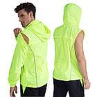 Куртка дождевик «Outto» 180012 трансформер 2-в-1 жилет с капюшоном вело дорожная походная, фото 10