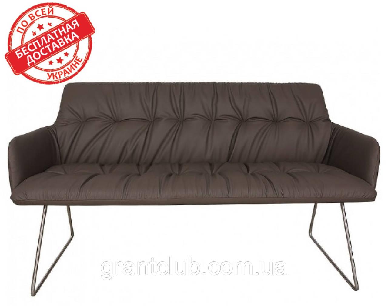 Кресло - банкетка LEON мокко кожзам 155 см Nicolas (бесплатная адресная доставка)
