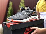 Мужские кроссовки Nike Flyknit Lunar 3 (серо-белые с оранжевым) 9385, фото 2
