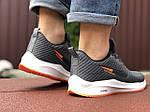 Мужские кроссовки Nike Flyknit Lunar 3 (серо-белые с оранжевым) 9385, фото 3
