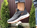 Мужские кроссовки Nike Flyknit Lunar 3 (серо-белые с оранжевым) 9385, фото 4