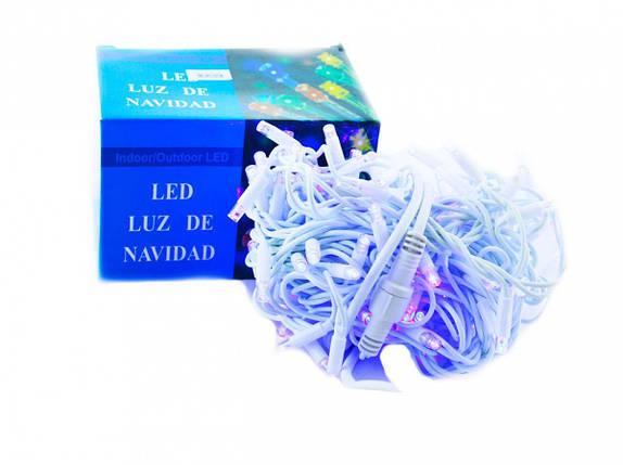 Xmas гирлянда LED 3.3 Line 100 B Синяя 10 Mетров Уличная+соед.Белый (20), фото 2