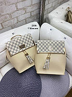 Женский рюкзак подделка Louis Vuitton. Рюкзак Луи Витон женский.