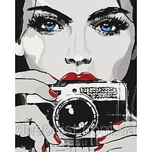 "Картина по номерам ""Яркий взгляд"", 40х50 см, 3*"