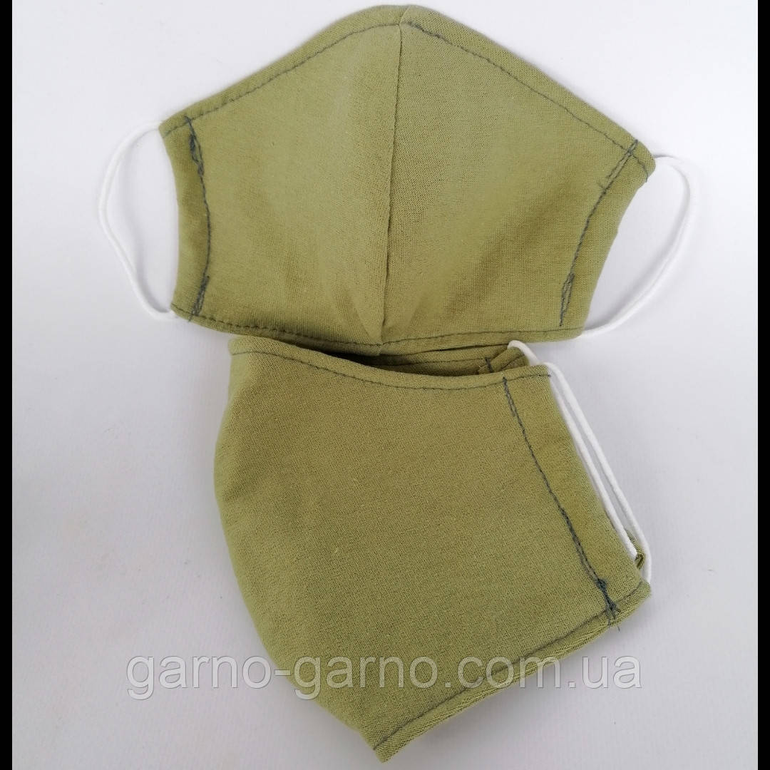 Багаторазова 3 шарова захисна трикотаж тканинна маска для обличчя дитяча жіноча чоловіча підліткова бавовна