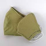 Багаторазова 3 шарова захисна трикотаж тканинна маска для обличчя дитяча жіноча чоловіча підліткова бавовна, фото 3