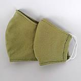 Багаторазова 3 шарова захисна трикотаж тканинна маска для обличчя дитяча жіноча чоловіча підліткова бавовна, фото 5