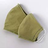 Багаторазова 3 шарова захисна трикотаж тканинна маска для обличчя дитяча жіноча чоловіча підліткова бавовна, фото 6