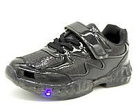 Светящиеся кроссовки Erico 33 20,5 см Черный N318 black 33 20,5 см, КОД: 1525072