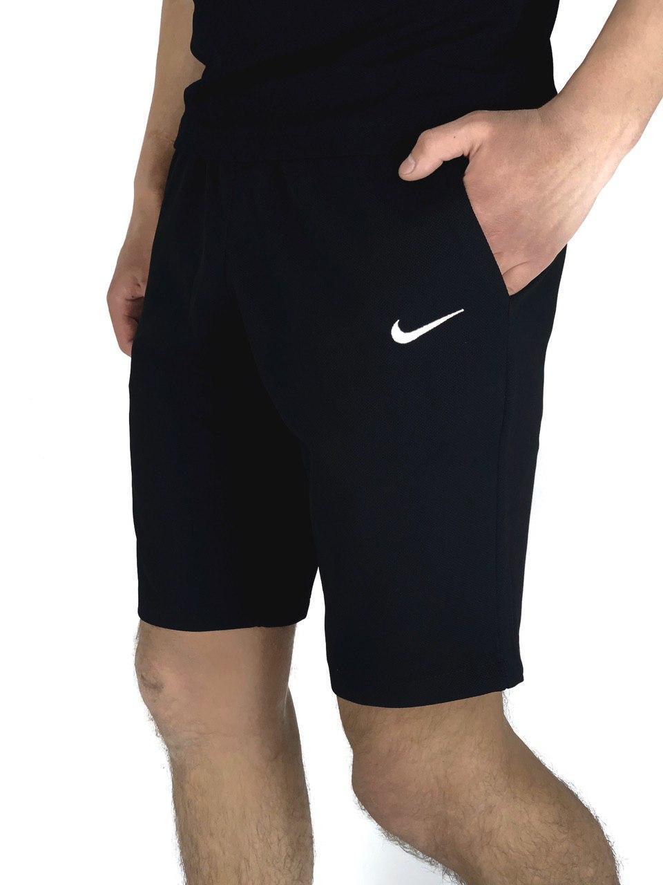 Мужские Шорты в стиле Найк/Nike Черные трикотажные