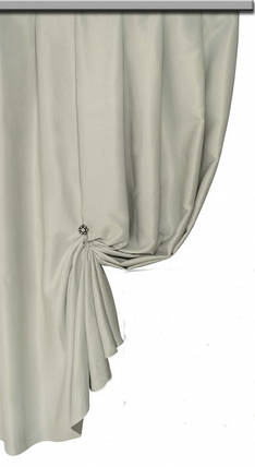 Ткань Блэкаут Однотонный молочно-пепельный  №D102, фото 2