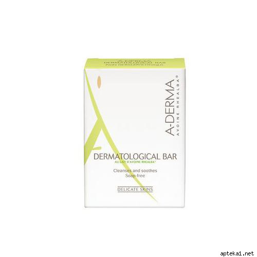 А-ДЕРМА мыло дерматологическоее на безмыльной основе для раздраженной кожи лица и тела 100г