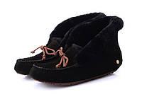 Мокасины зимние женские UGG Alena (угги, угг,оригинал) черные на овчине