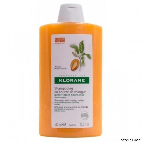 КЛОРАН шампунь живильний з маслом манго для пошкодженого волосся 400мл