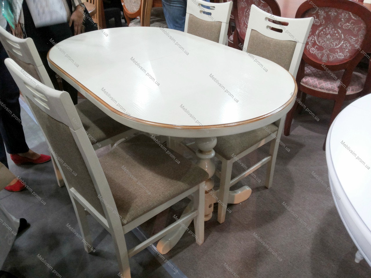 Стол кухонный овальный Гирне GOOD WOOD Рускополянский Мебельный Комбинат Явир