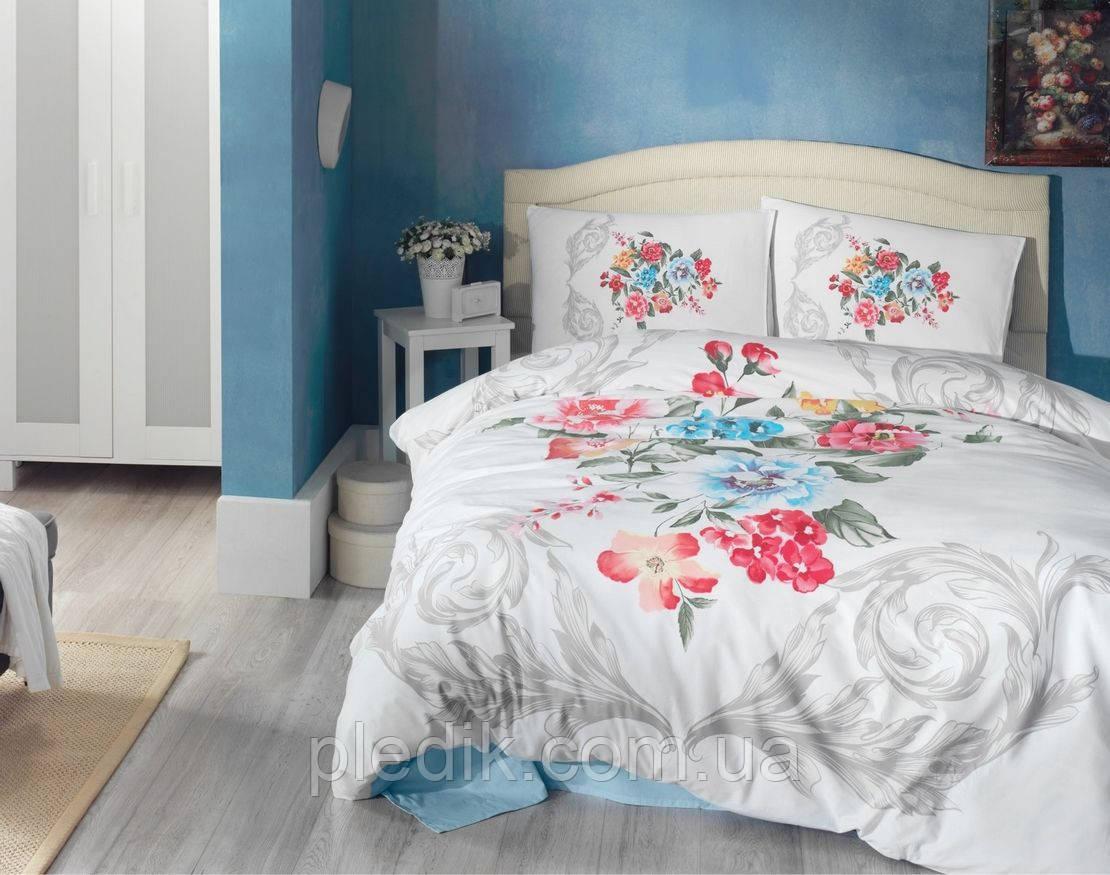 Купить Двуспальное постельное белье 200х220 Cotton box 3D Ранфорс VANESSA MAVI