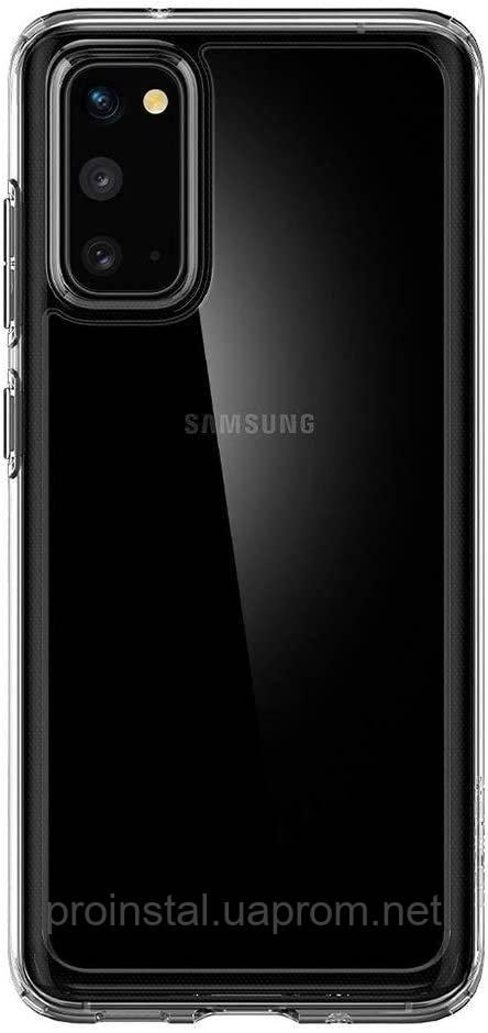Чехол Spigen для Galaxy S20 Crystal Hybrid, Crystal Clear