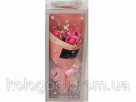 Букет Троянд Ароматичне Мило День Святого Валентина, 8 Березня Подарунок Коханим 5 букетів в Упаковці