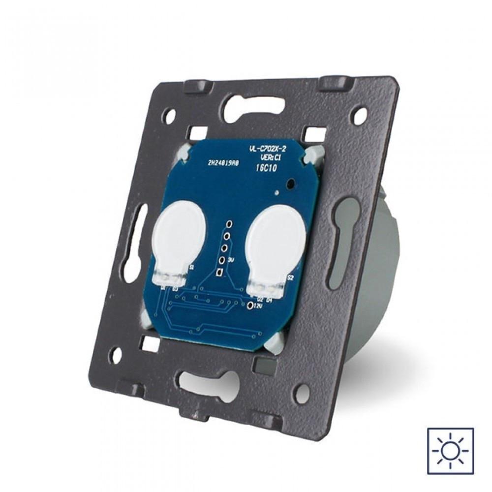Механизм сенсорный выключатель Livolo 2 канала с сухим контактом (VL-C702I)