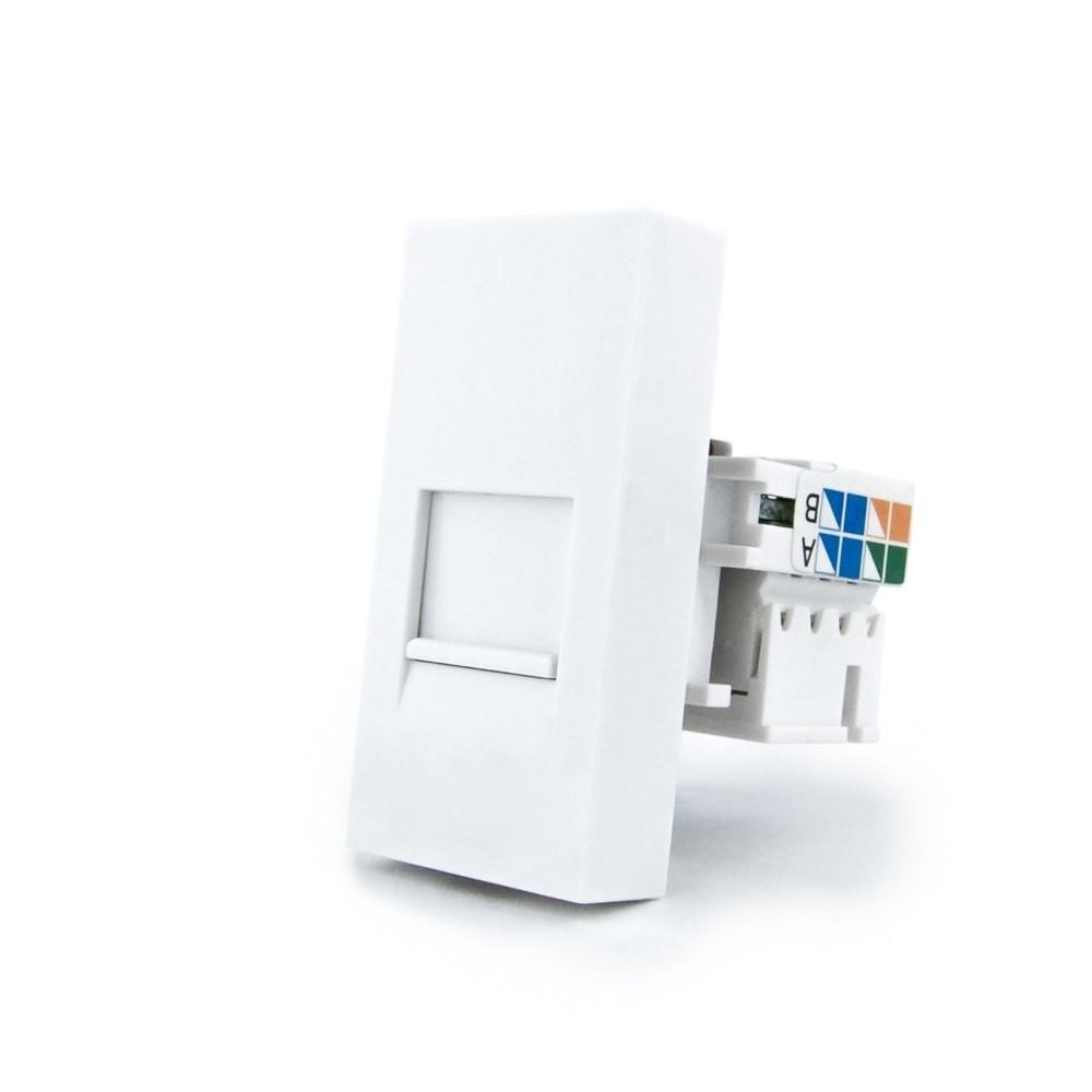 Механизм розетка интернет RJ-45 Cat 6 Livolo белый (VL-C7-1C-11)