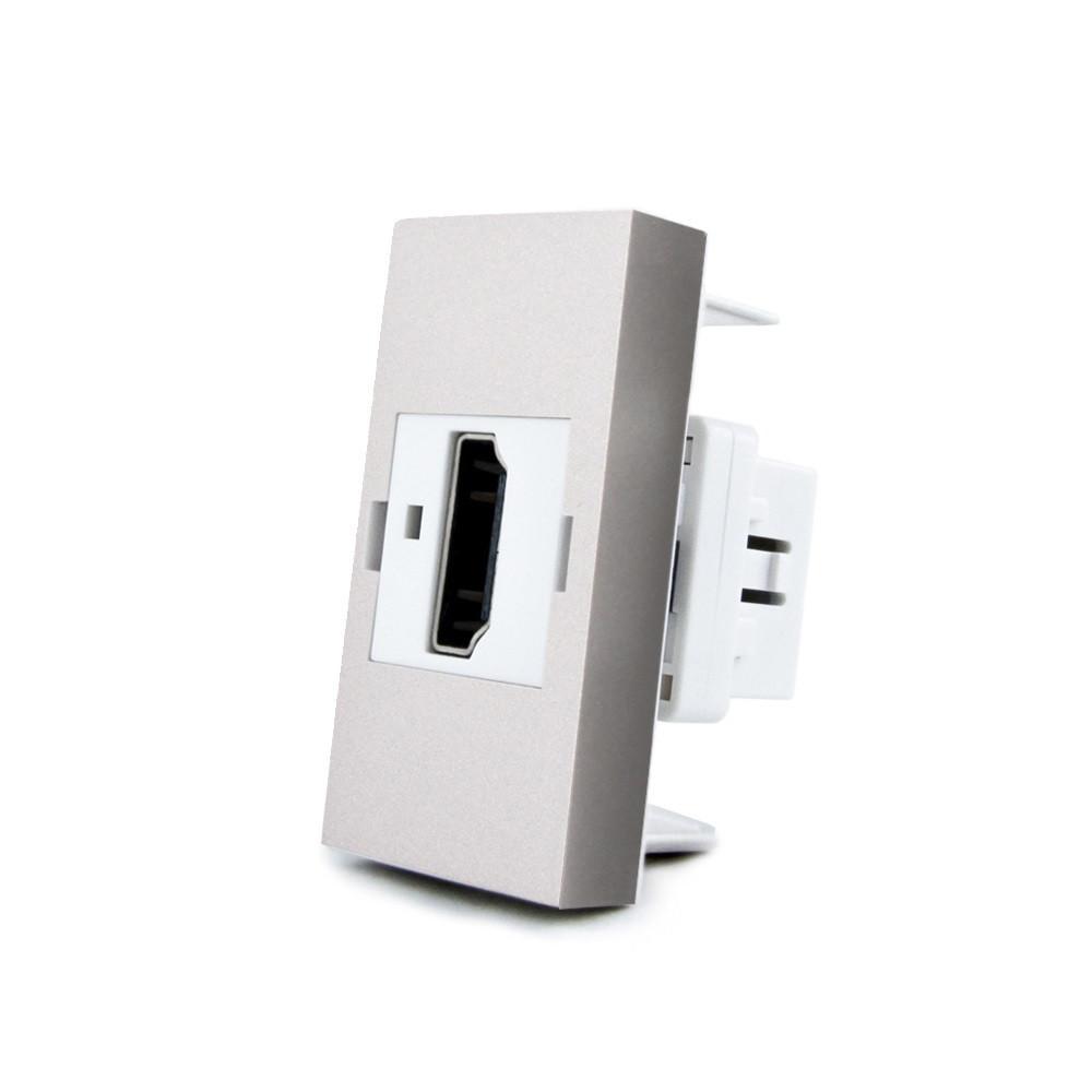 Механизм розетка Livolo HDMI серый (VL-C7-1HD-15)