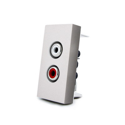Механизм розетка RCA аудио Livolo серый (VL-C7-1AD-15)