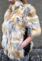 Жіночий жилет з хутра лисиці з рукавом., фото 1
