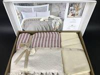 Летнее постельное белье с пике Favorite Armani bordo