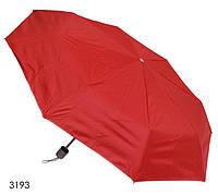Зонт женский механический красный, фото 1