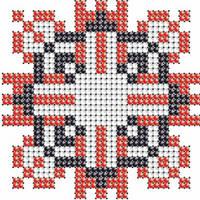 Схема на ткани для вышивания бисером Вадим - имя закадированное в вышиванке КМР 7110