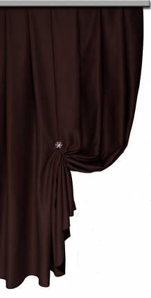 Ткань Блэкаут Однотонный венге   №9, фото 2