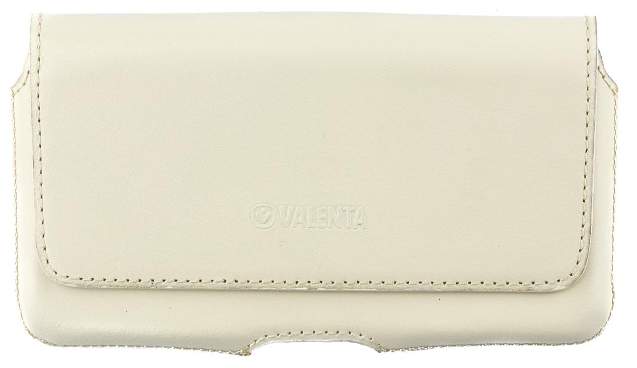 Шкіряний футляр на пояс для смартфонів 5,5-6 дюймів Світло-бежевий