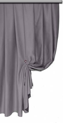 Ткань Блэкаут Однотонный серый, фото 2