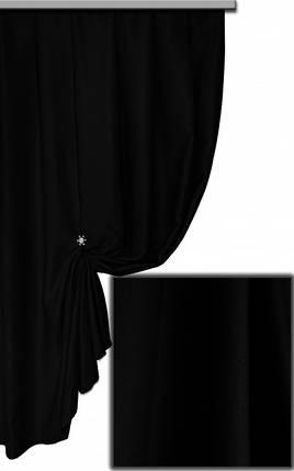 Ткань Блэкаут Однотонный черный Siyeh, фото 2