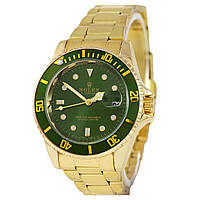 Часы Rolex Submariner 2128 Quarts Gold-Green SKL39-224963