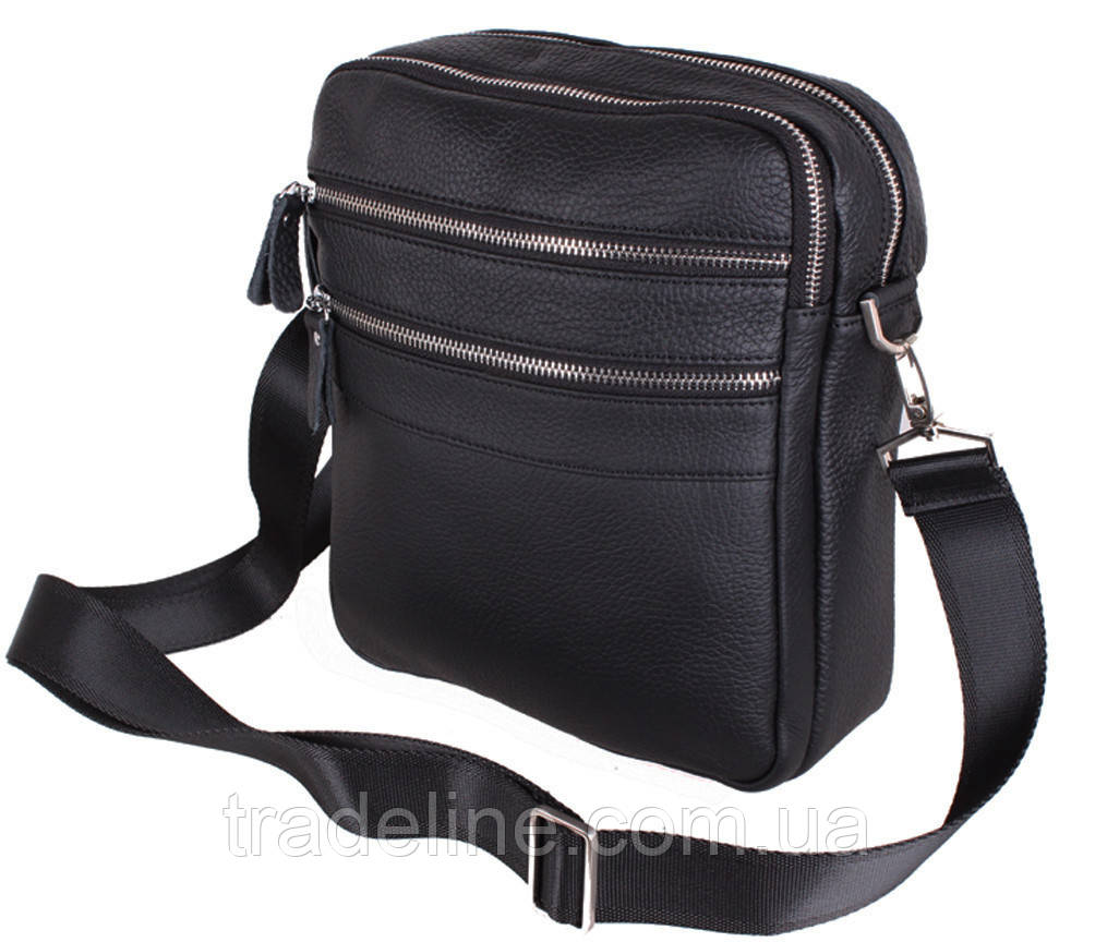 Чоловіча шкіряна сумка Dovhani Dov-201289 Чорна