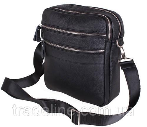 Чоловіча шкіряна сумка Dovhani Dov-201289 Чорна, фото 2