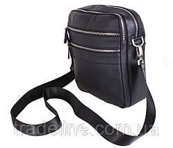 Чоловіча шкіряна сумка Dovhani Dov-201289 Чорна, фото 3
