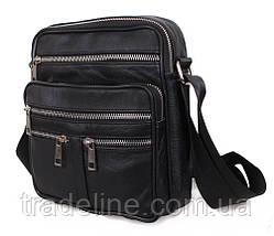 Мужская кожаная сумка Dovhani BLACK60298 чернная, фото 2