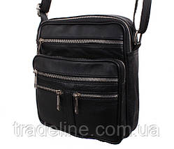 Мужская кожаная сумка Dovhani BLACK60298 чернная, фото 3