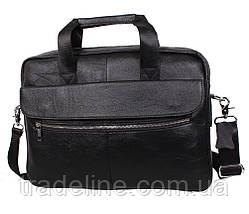 Мужская кожаная сумка Dovhani Dov-1119-113 Черная, фото 2
