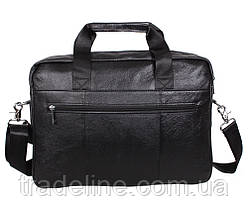 Мужская кожаная сумка Dovhani Dov-1119-113 Черная, фото 3
