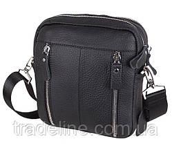 Мужская кожаная сумка Dovhani T3012888 Черная, фото 2