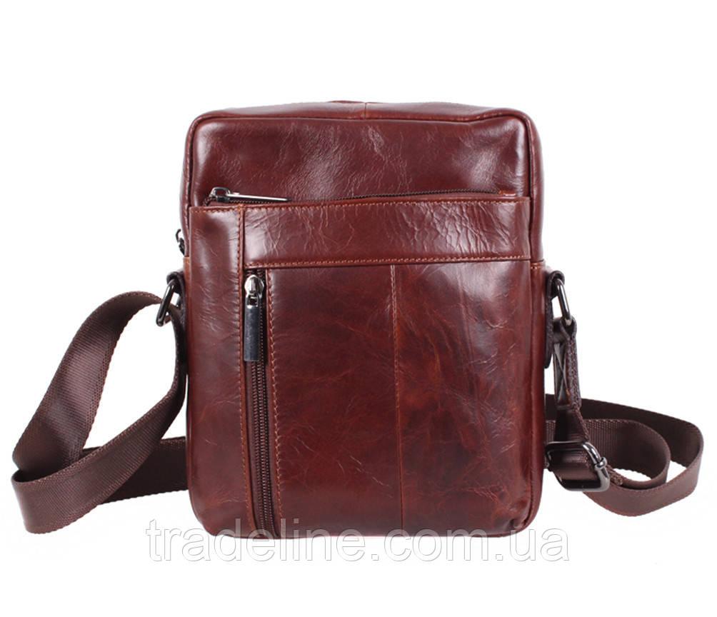 Мужская кожаная сумка Dovhani BR9195195 Коричневая